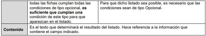 Cuadro pestaña filtros y condiciones iSegur2.