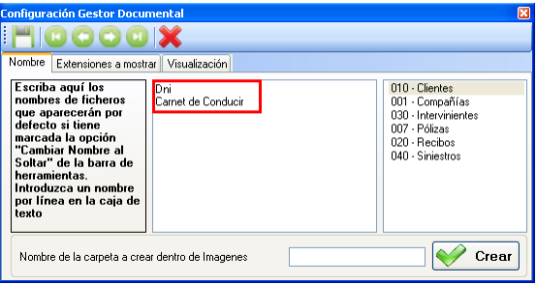 configuracion del gestor documental